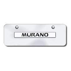 Murano Name Chrome on Chrome Mini License Plate