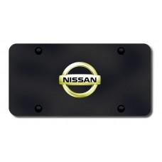 Nissan Logo GLD/BLK License Plate