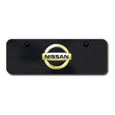Nissan Logo GLD/BLK Mini License Plate
