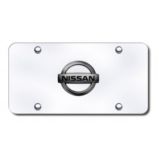 Nissan Logo Blkprl/CHR License Plate