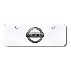 Nissan Logo BLKPRL/CHR Mini License Plate