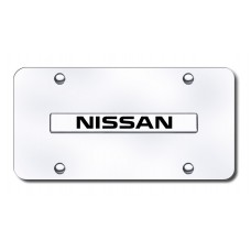 Nissan Name Chrome on Chrome License Plate