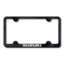 Suzuki Wide Body Laser Etched Black License Plate Frame
