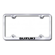 Suzuki Wide Body Laser Etched Chrome License Plate Frame