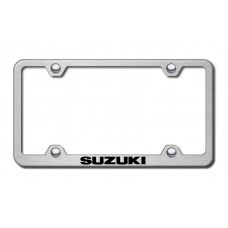 Suzuki Wide Body Laser Etched Brushed Stainless Steel License Plate Frame