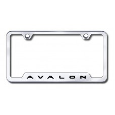 Avalon Laser Etched Chrome Cut-Out License Plate Frame