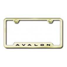 Avalon Laser Etched Gold Cut-Out License Plate Frame