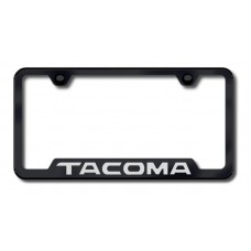 Tacoma Laser Etched Cut-Out Black License Plate Frame