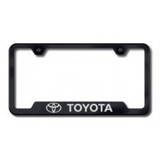 Toyota Laser Etched Cut-Out Black License Plate Frame