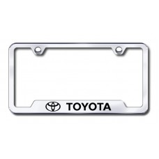 Toyota Laser Etched Chrome Cut-Out License Plate Frame