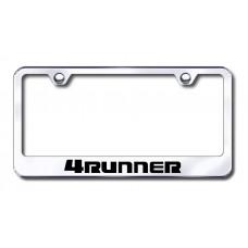 4Runner Laser Etched Chrome Metal License Plate Frame