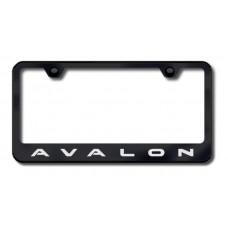 Avalon Laser Etched Black License Plate Frame