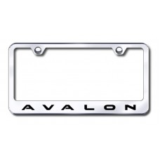 Avalon Laser Etched Stainless Steel License Plate Frame