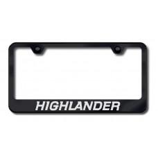 Highlander Laser Etched Black License Plate Frame