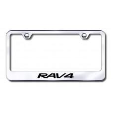 RAV4 Laser Etched Chrome Metal License Plate Frame