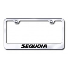 Sequoia Laser Etched Chrome Metal License Plate Frame