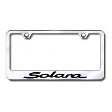 Solara Laser Etched Chrome Metal License Plate Frame