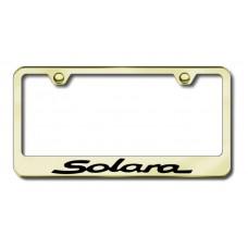 Solara Laser Etched Gold Metal License Plate Frame