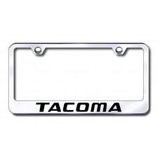 Tacoma Laser Etched Chrome Metal License Plate Frame