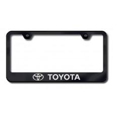 Toyota Laser Etched Black License Plate Frame