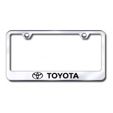 Toyota Laser Etched Chrome Metal License Plate Frame
