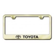 Toyota Laser Etched Gold Metal License Plate Frame