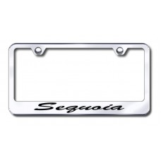 Sequoia Script Engraved Chrome License Plate Frame