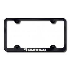 4Runner Wide Body Laser Etched Black License Plate Frame