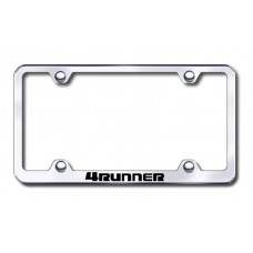 4runner wide body laser etched chrome metal license plate frame