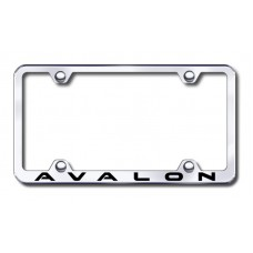 Avalon Wide Body Laser Etched Chrome Metal License Plate Frame