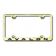 Avalon Wide Body Laser Etched Gold Metal License Plate Frame