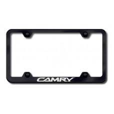 Camry Wide Body Laser Etched Black License Plate Frame