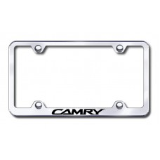 Camry Wide Body Laser Etched Chrome Metal License Plate Frame