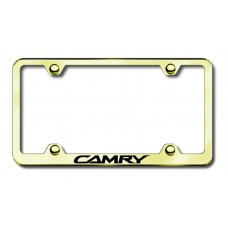 Camry Wide Body Laser Etched Gold License Plate Frame