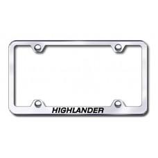 Highlander Wide Body Laser Etched Chrome Metal License Plate Frame