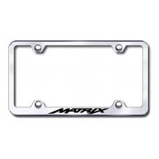 Matrix Wide Body Laser Etched Chrome Metal License Plate Frame