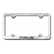 Prius Wide Body Laser Etched Chrome Metal License Plate Frame