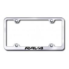 Rav4 Wide Body Laser Etched Chrome Metal License Plate Frame