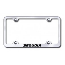 Sequoia Wide Body Laser Etched Chrome Metal License Plate Frame