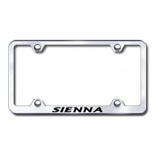 Sienna Wide Body Laser Etched Chrome Metal License Plate Frame