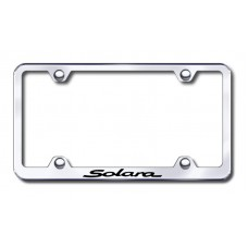 Solara Wide Body Laser Etched Chrome Metal License Plate Frame