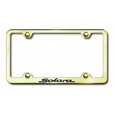 Solara Wide Body Laser Etched Gold Metal License Plate Frame