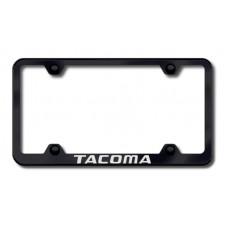 Tacoma Wide Body Laser Etched Black License Plate Frame