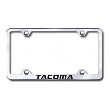 Tacoma Wide Body Laser Etched Chrome Metal License Plate Frame