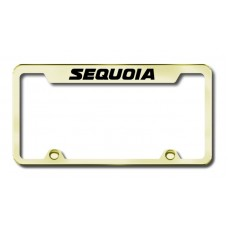 Sequoia Engraved Gold Truck License Plate Frame