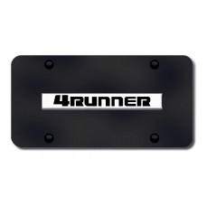 4Runner Name Chrome on Black License Plate