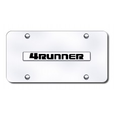 4Runner Name Chrome on Chrome License Plate
