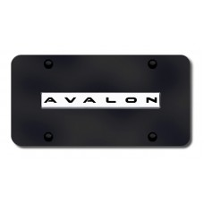 Avalon Name Chrome on Black License Plate
