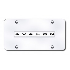 Avalon Name Chrome on Chrome License Plate