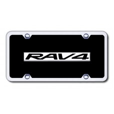 RAV4 Chrome/Black Acrylic License Plate Kit